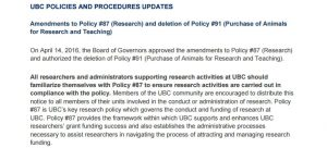Research Policy Amendments